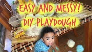 5 ingredient DIY playdough - tobringtogether
