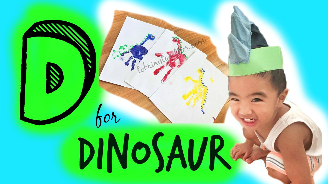 D for dinosaur – Toddler weekly alphabet activity