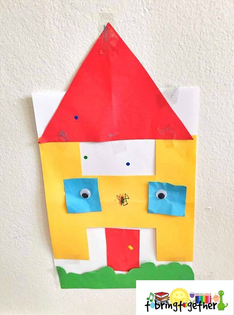 H for house – Toddler weekly alphabet activity