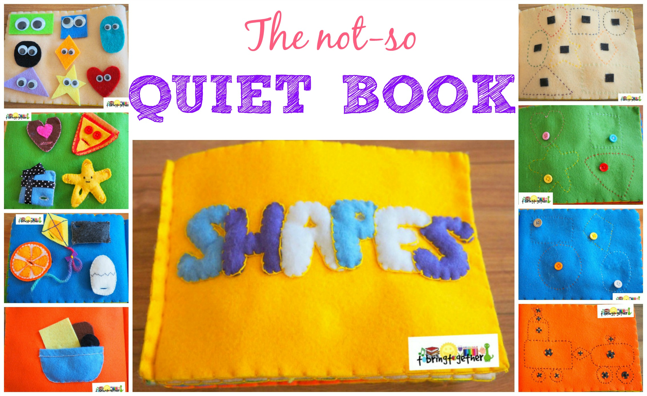 DIY SHAPES Quiet Book for toddlers