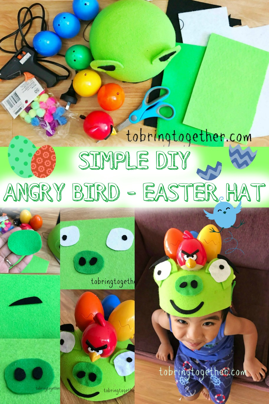 DIY Angry Bird Theme Easter Hat