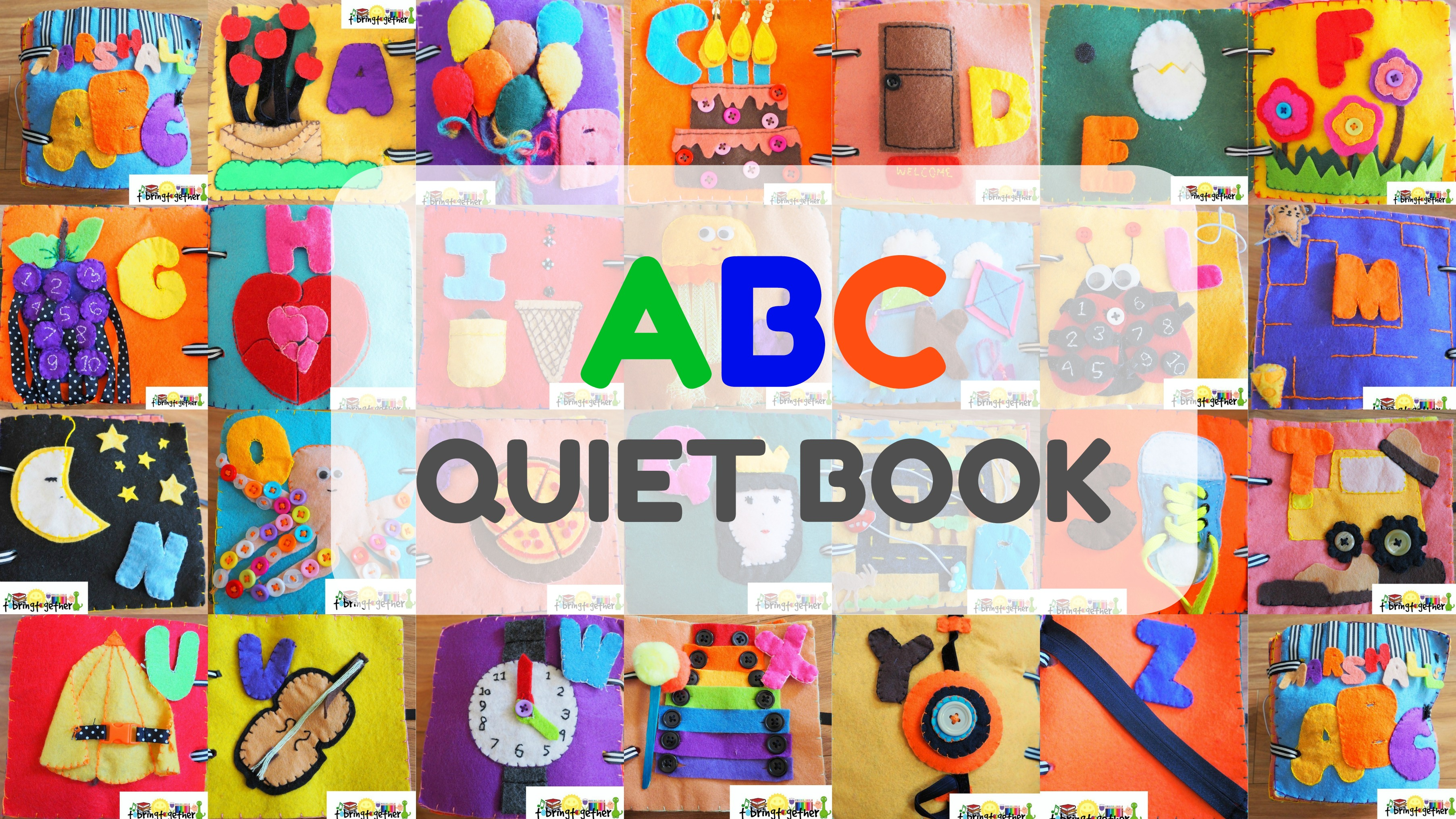 Q for QUIET book | DIY ABC Quiet book | DIY Cloth book | DIY felt book