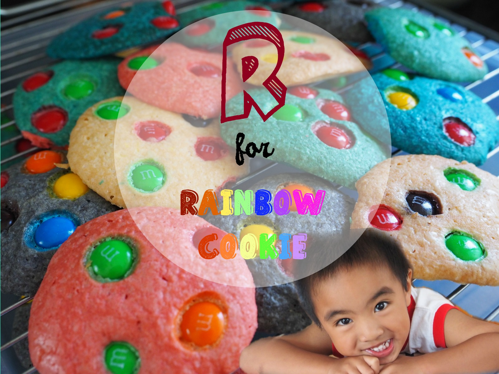 R for rainbow cookie