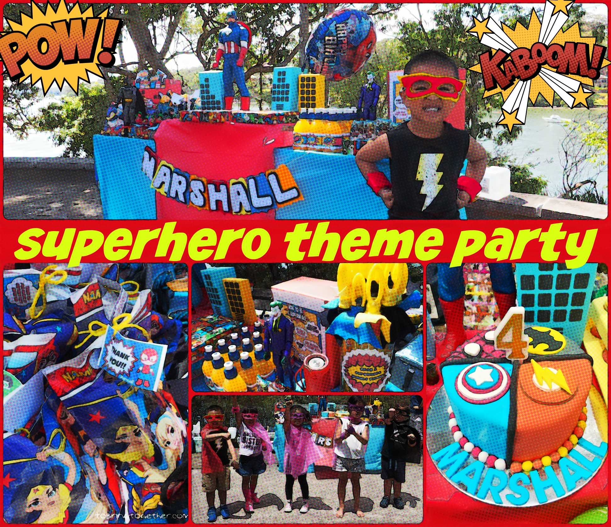 Marshall's DIY Superhero Theme Party