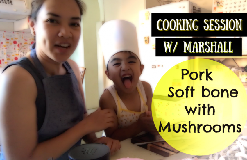 Cooking session with Marshall - Pork softbones with mushroom
