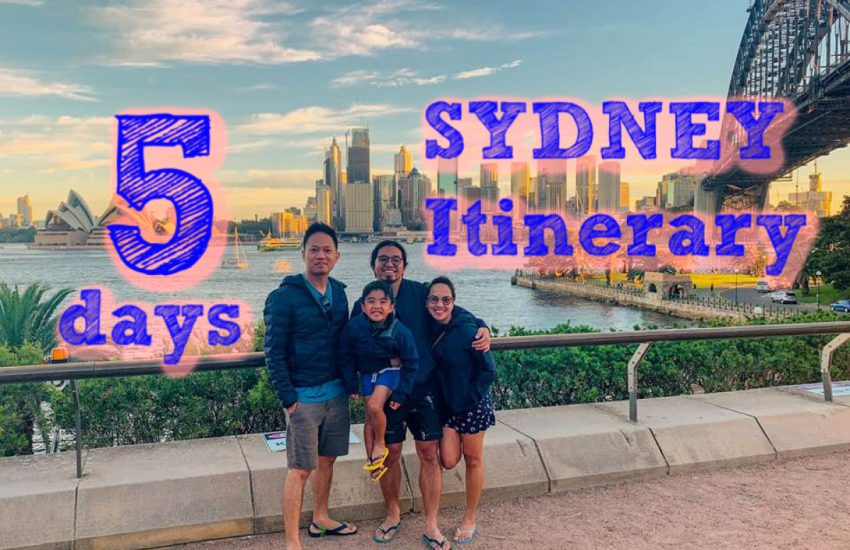 5 day Itinerary Sydney Australia