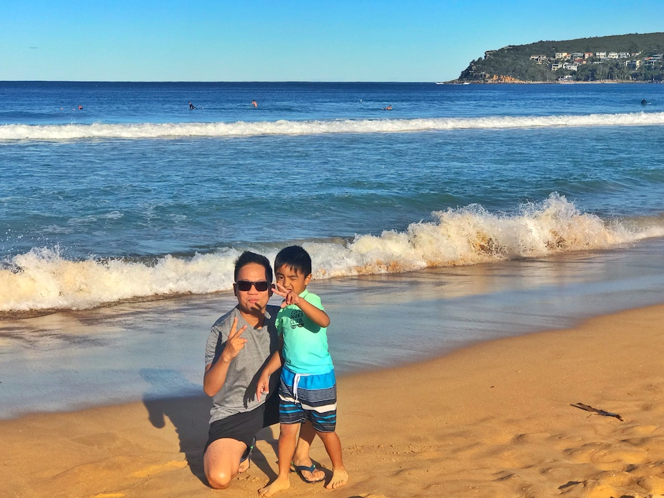 Marshall at Manly Beach, NSW 2019