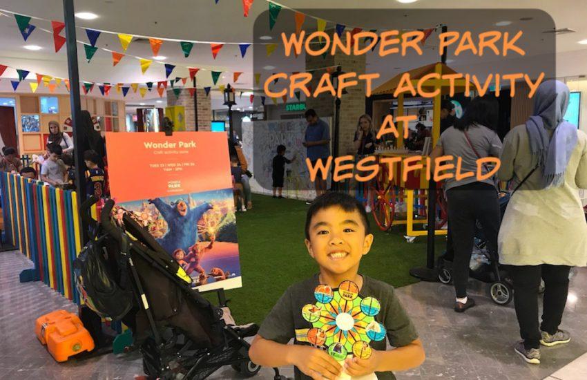 Wonder Park craft activity at Westfield