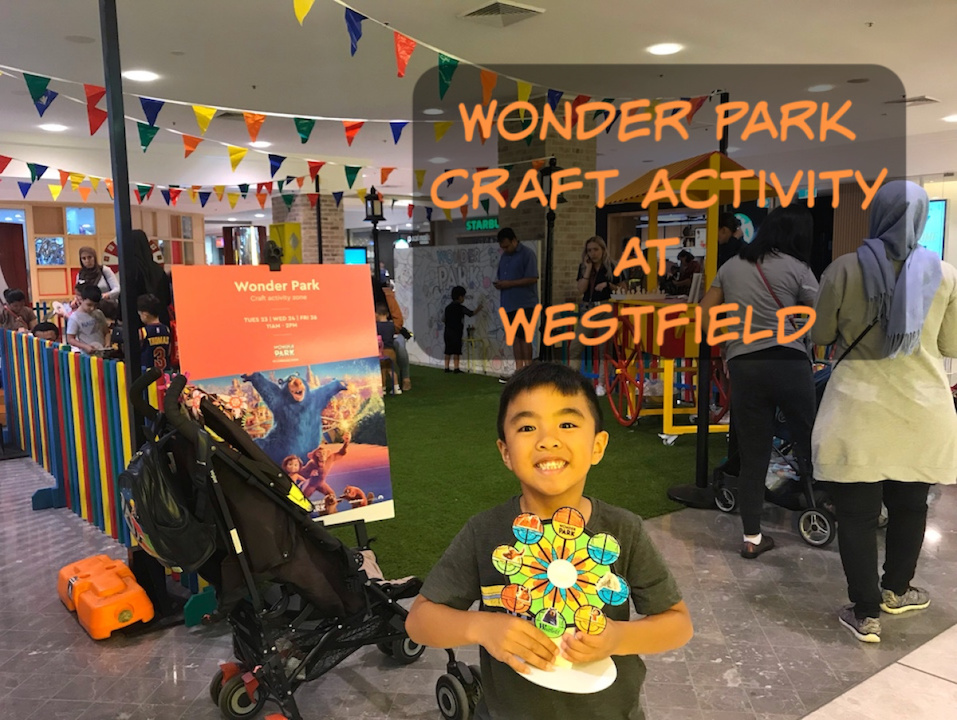 Wonder Park craft activity at Westfield