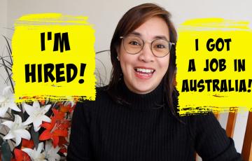 Hired as a nurse in Australia
