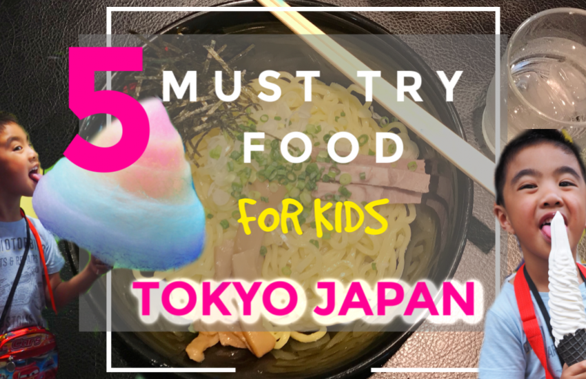 5 must-try food for kids at Tokyo Japan