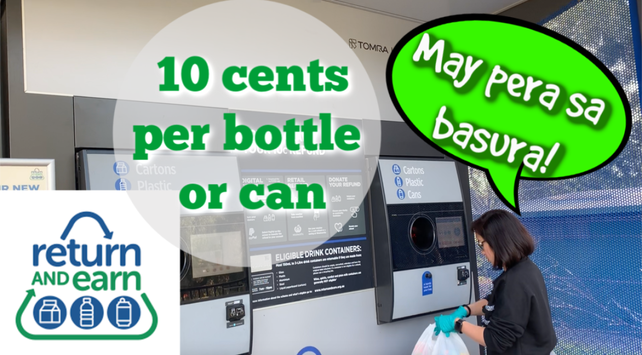 Return and Earn – 10 cents per bottle!